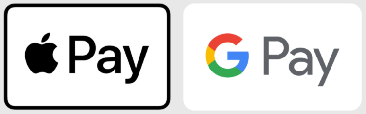 apple pay and google pay accepted
