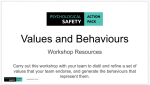 values and behaviours to build psychological safety